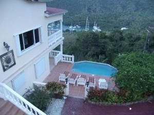 Villa isis overlooking trees