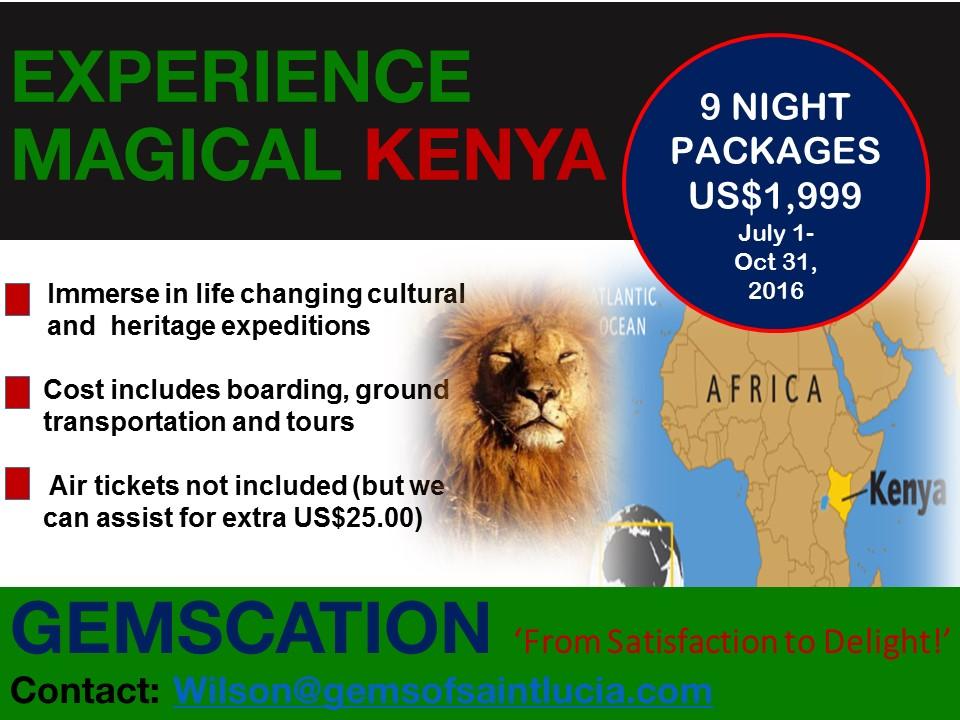 Magical Kenya - July 1-October 31, 2016
