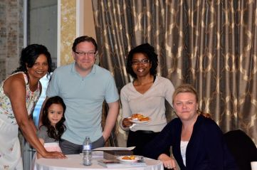 with David, Laura, Peggy, Nyamulola