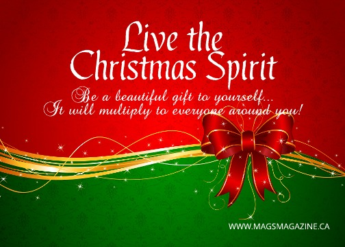 Live the Christmas Spirit and be Your Own Best Present!