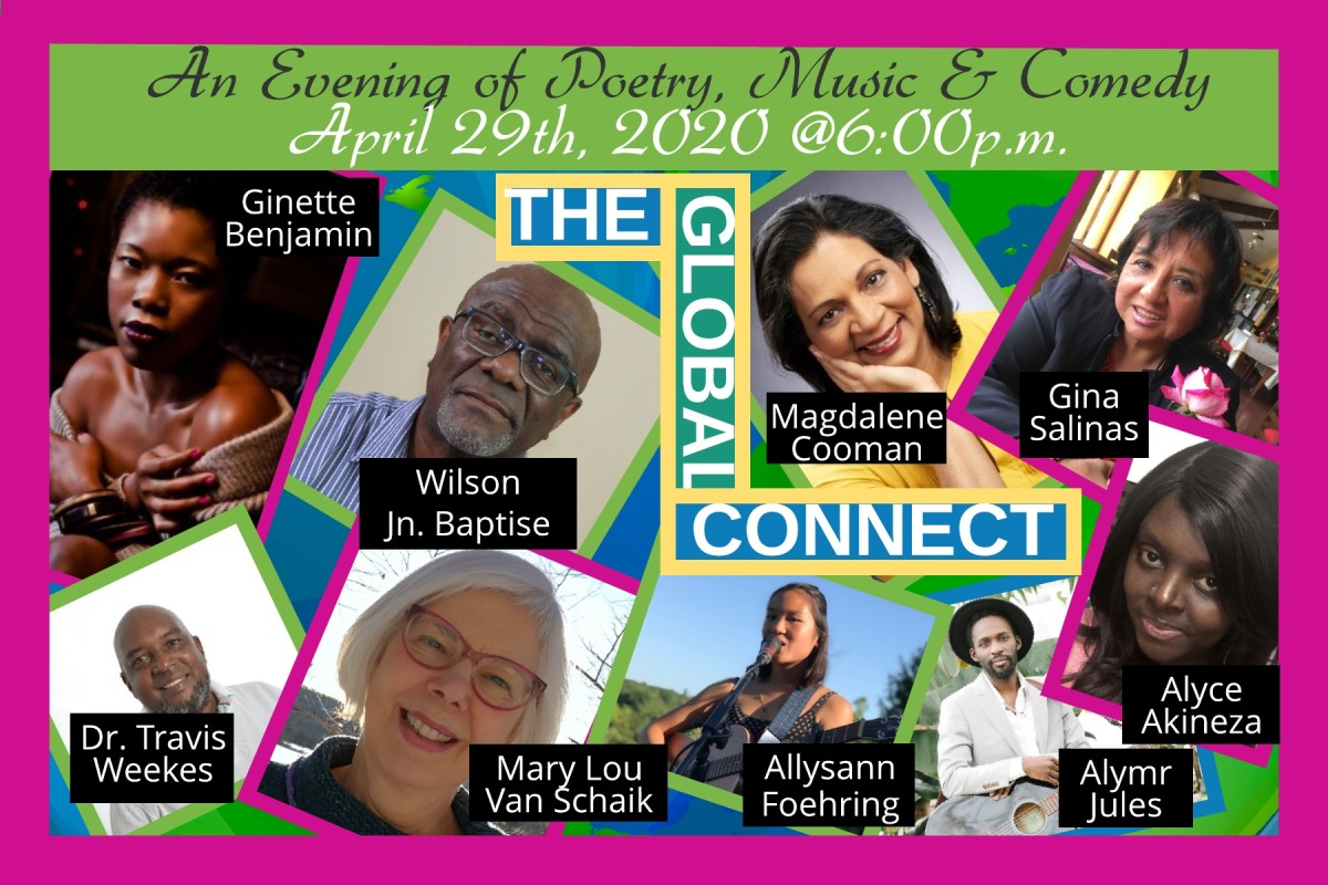 Join us for The Global Connect – An evening of Poetry, Music and Comedy